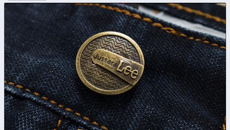 Jussara LEE Brand Jeans Straight New Fashion Top quality High GradeSlim jeans Straight Retro men Denim jeans(China (Mainland))