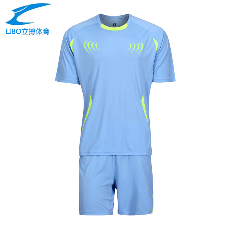 LIBO 2016 New Men Soccer Jerseys Football Clothing Paintless Summer Sportswear Set Breathable Maillot De Foot Training Suit(China (Mainland))
