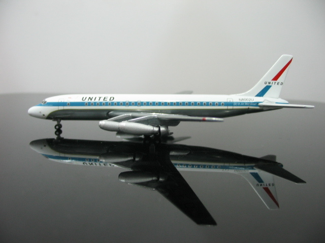 1:500 UNITED Airlines DC8-10N N8002U aircraft model(China (Mainland))