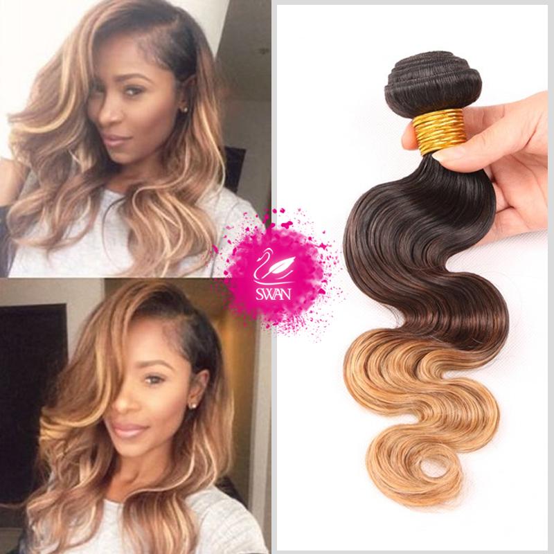 Необработанные натуральные волосы для наращивания 9A Grade Ombre body wave Hair 1pc/Lot Бразильские женские волосы Natural Human Hair 1B/4/27