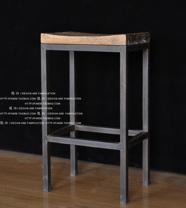 livraison gratuite am ricain minimaliste r tro tabourets de bar chaises de bar de fer faire le. Black Bedroom Furniture Sets. Home Design Ideas