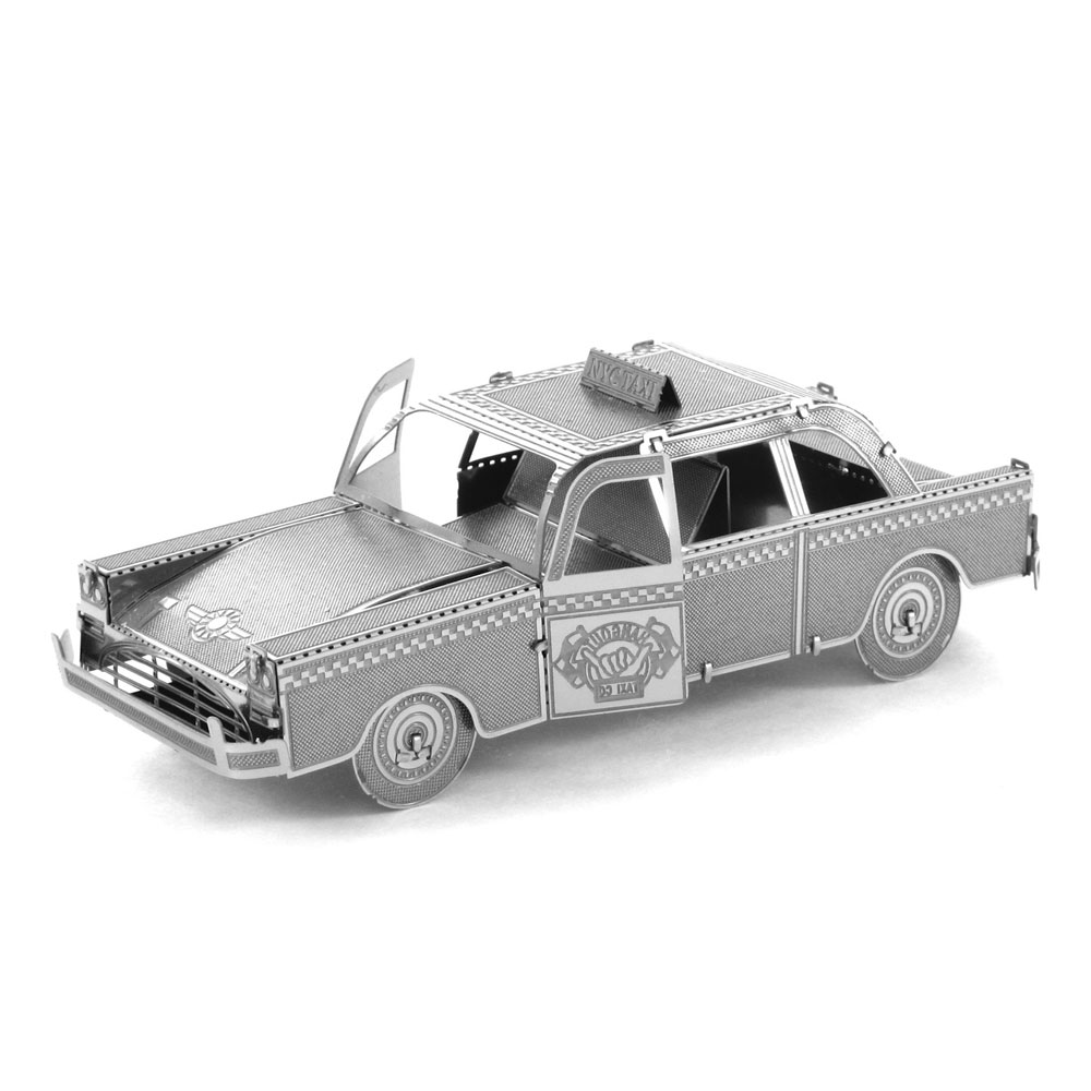 Taxi Metal Puzzle 3D Scale Cars Model DIY Cutting Laser Model Building Kits Mini Auto Miniaturas Assembly Jigsaw Educational Toy(China (Mainland))