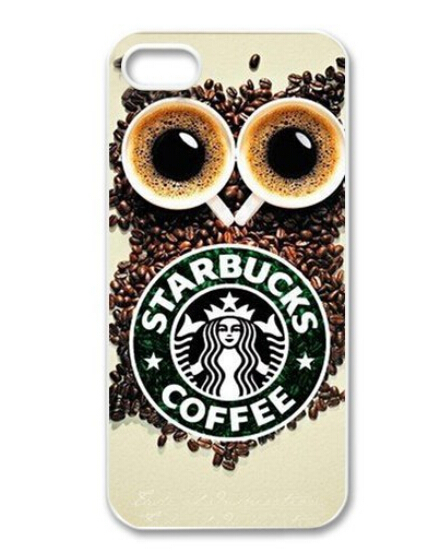 Custom Starbucks Logo Protective for iphone4 4s 5 5s 5c custom cell phone hard cover free shipping 306(China (Mainland))