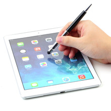 Crystal 2 in1 Touch Screen Stylus Ballpoint Pen for iPhone for iPad Smartphone YKS