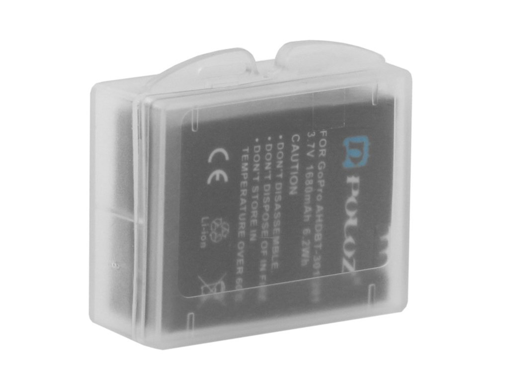 Gopro Accessory Transparent Clear Plastic Protective Camera Battery Case Storage Box Cover for GoPro Hero 3+ 3 Battery Xiaomi yi