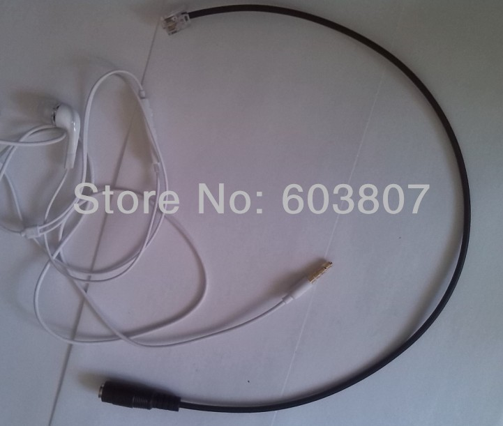 GOLD RJ 9 to 3.5mm Smartphone Headset Adapter For Polycom 300 301 430 450 500 501 600 601(China (Mainland))