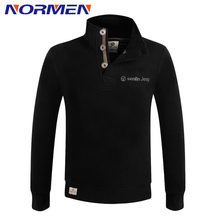 2016 New Design Men's Casual Solid Sweatshirts Outdoor Style Botton Up Collar Fleece Wide-waisted Regular Fit Hoodies Wholesale(China (Mainland))