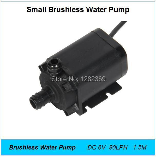 New DC 6V 2.4W 80LPH 1.5M,Mini Submersible Brushless Water Pump,Small Fountain,Aquarium Micro Electric Centrifugal Diving Pump(China (Mainland))
