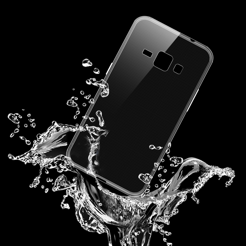 2016 hot sales thin TPU mobile phone cases Transparent waterproof seal For Samsung GALAXY J1(China (Mainland))