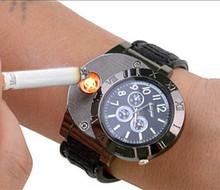 New 2015 Military Electronic Lighter Usb Quartz Watch Man Quartz Sports Cigarette Lighter Men Watches man watch