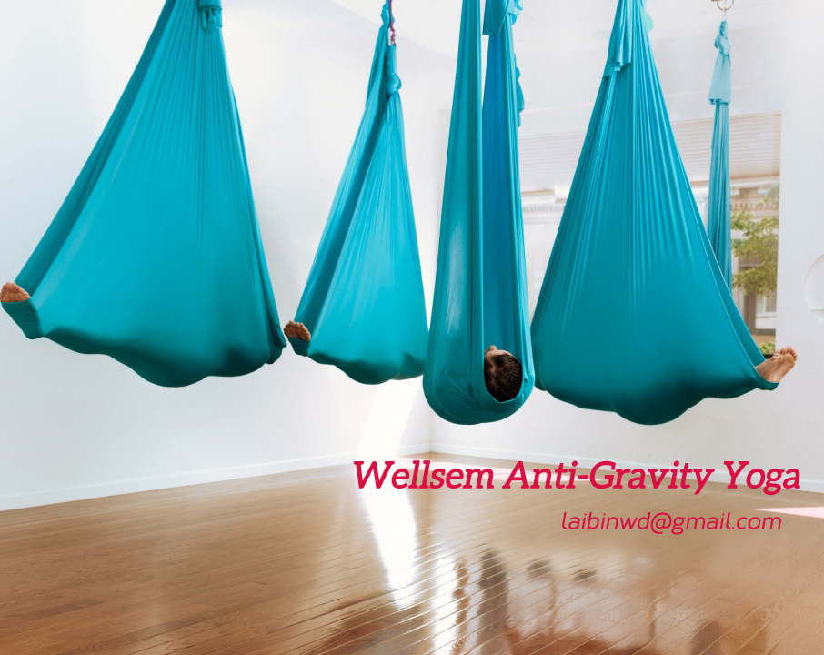 5 meter length top quality Flying Yoga Swing Anti-Gravity yoga hammock fabric Aerial Traction Device for yoga for yoga stadium(China (Mainland))