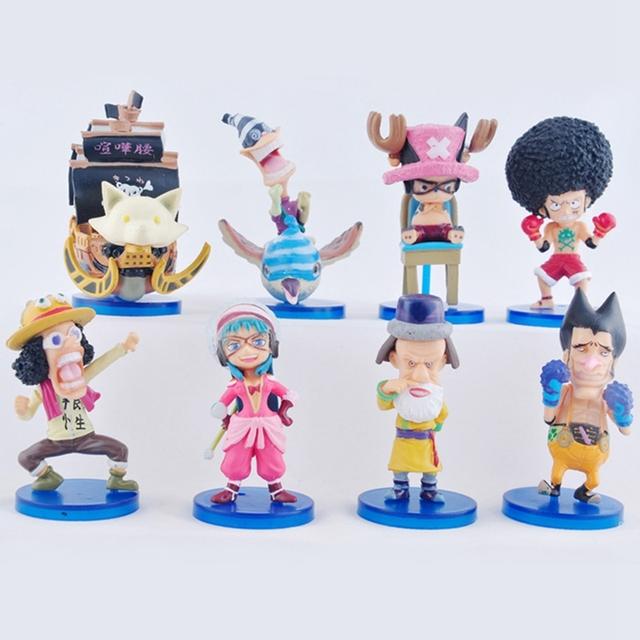 Бесплатная доставка 8 шт./компл. аниме одна часть PVC игрушки модель 2 лет после того , как сторона история