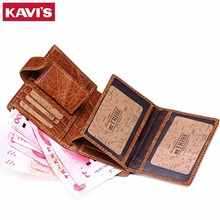 KAVIS Real Genuine Leather Mens Passport Holder Wallets Man Cowhide Passport Cover Purse Brand Male Credit&Id Car Wallet Vintage(China (Mainland))