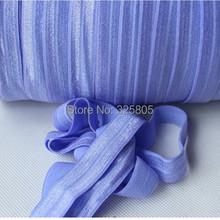 2014 New Arrival #447-Iris 5/8″ (16mm) FOE elastic, solid Fold Over Elastic 50yards/lot, FOE for Headbands Free shipping