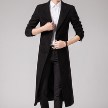 Spring autumn Winter Long Trench Coat Men Single Breasted Pea Coats Tops Fashion Casual British Style Overcoat Trenchs Jackets(China (Mainland))