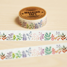 Plants/Trees/Grass DIY Washi Paper Tape 1.5cm*10m Decorative Crafting Scraping Paper Adhesive Masking Tape Diary Decoration(China (Mainland))