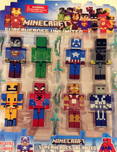 8PCS/lot Minecraft Avengers Building Blocks Toys Assembly Toy Compatible Action Toy Figures For Gift(China (Mainland))