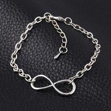 New Fashion Popular Plating Gold Metal Cross Infinite Bracelet Bangle Charm chain bracelets Jewelry Wholesale For