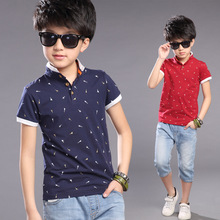 Fashion Cool Guitars Print Boys Cotton T-shirts 2016 New Summer Boy Teenagers Tops Shirts Tees Clothes for 3-12T erkek tshirt(China (Mainland))