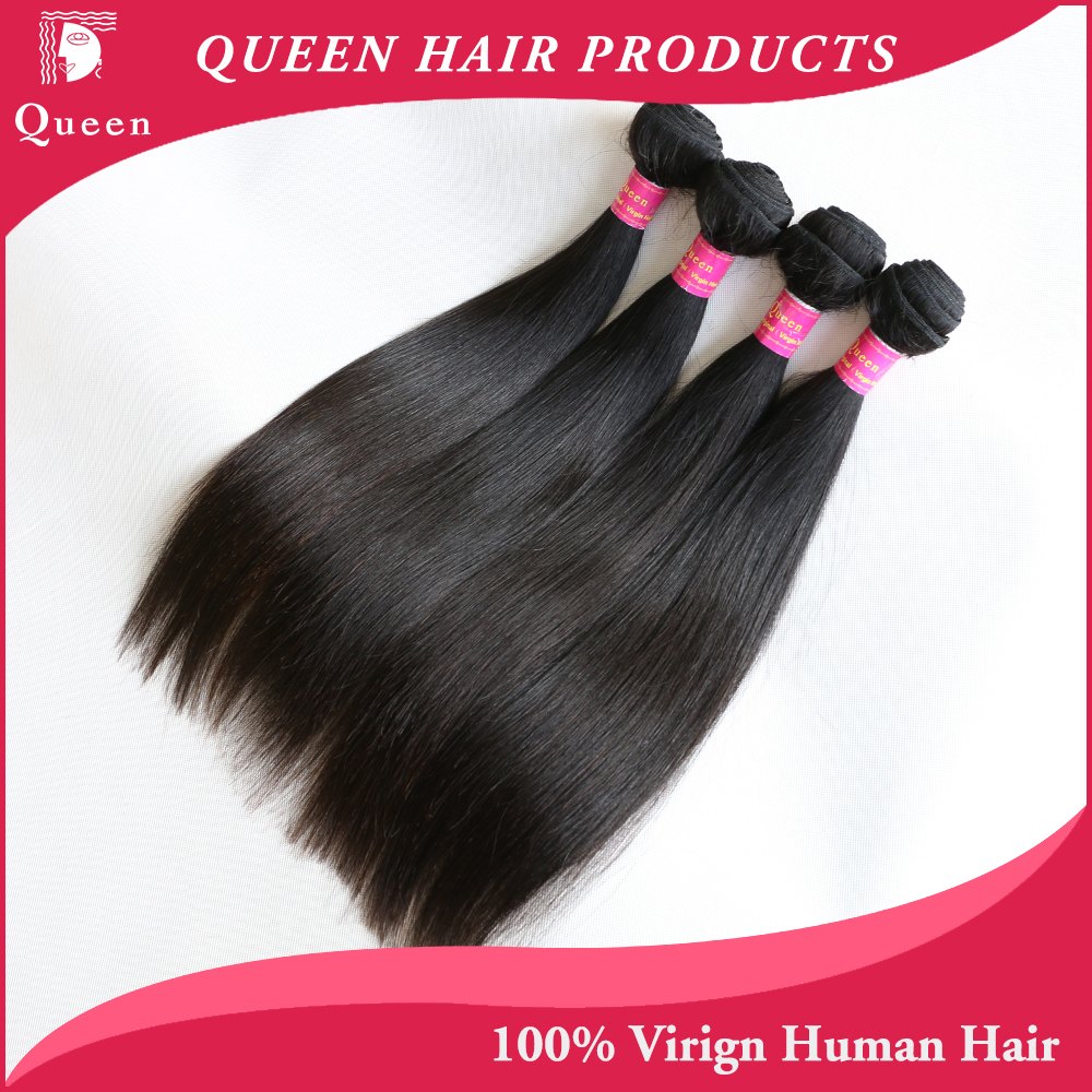 product Queen hair Products Brazilian Virgin Hair Straight Unprocessed Virgin Brazilian Straight Hair Brazilian Human Hair Weave Bundles
