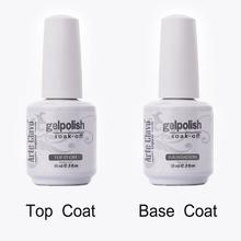 15ml Arte Clavo High Quality 1 x No Wipe Top coat&Primer Base Coat UV Gel Nail Soak Off Gel Polish Nail Gel Art Builder Gel Set(China (Mainland))