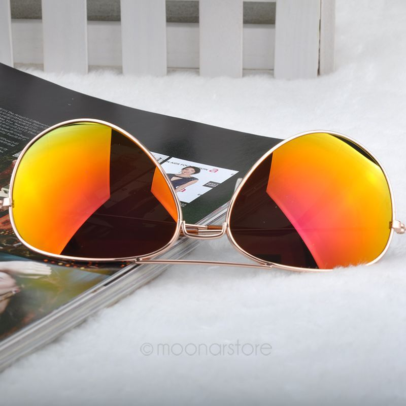 2015 New Fashion sun glasses Goggle AVIATOR Metal Eyewear Bat Mirror UV Protection Multi Color for Unisex XMHM041#S10
