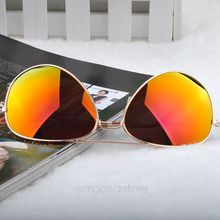 2015 New Fashion sun glasses Goggle AVIATOR Metal Eyewear Bat Mirror UV Protection Multi Color for