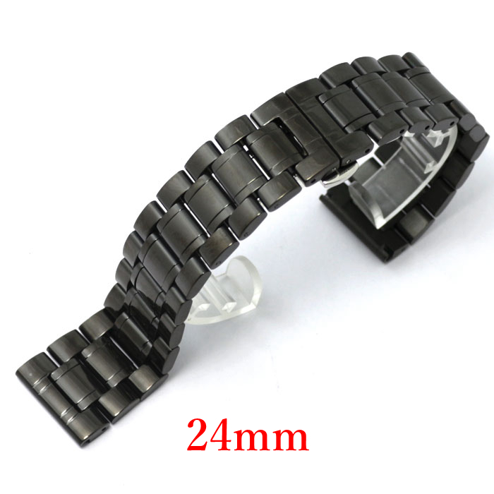 Men Women Stainless Steel Watch Strap for men &amp;women 24mm Watch Band for Hours GD013724<br><br>Aliexpress