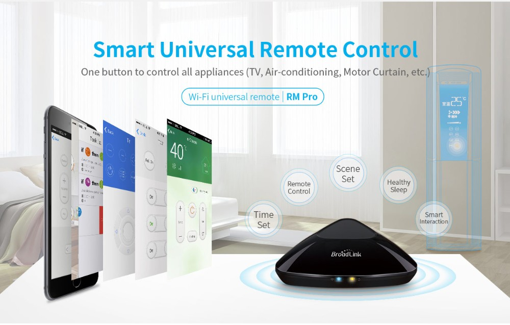 2017 Upgraded Version Broadlink RM3 RM mini3 RM2 Pro Smart Home Automation WIFI+IR+RF+4G Universal Controller for iOS Android