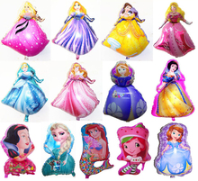 A lot cute Cartoon Characters disney Princess Christmas Brithday Party Decoratiion Baby's toy lovely Gift. Mylar Foil balloons(China (Mainland))