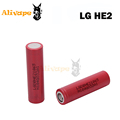 LG HE2 18650 3 7V 2500mAh 35A Rechargeable Flat Top batteries For Electronic Cigarette Box Mod