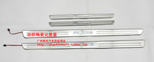 High quality stainless steel LED Scuff Plate/Door Sill for Mitsubishi pajero sport