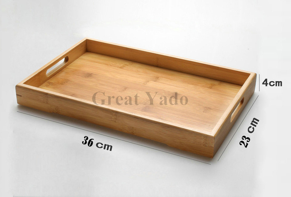 Bamboo tea tray for Chinese Kungfu tea set 36cmx23cmx4cm dish plate for coffee tea sets