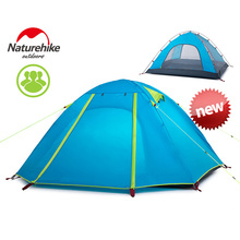 New Arrived 4 season 210*160*115 cm Double Layer 3 Person Outdoor Camping Hike Travel Tent – NatureHike not include seperate mat