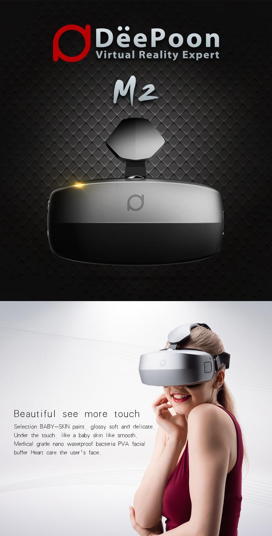 ถูก Deepoon M2 2560x1440ความละเอียดทั้งหมดในหนึ่ง3D VRชุดหูฟังความเป็นจริงเสมือนFOV 96 75เฮิร์ตสนับสนุนบลูทูธV4.0 Wifiเกมเครื่องเล่น