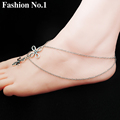 Chinese Knot Cross Women s Ankle Bracelet Vintage Silver Double Layers Chain Bracelet On The Leg