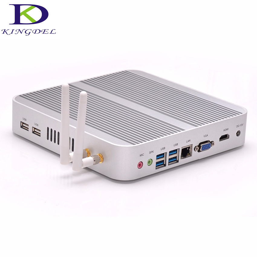 Fanless mini pc 12v Core i3 5005U Dual Core,Intel HD Graphics 5500,Wifi HDMI USB 3.0 VGA,micro computer
