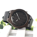 2016 New Arrival Black Wooden Watch Mens Top Luxury Brand Japan Movement Quartz Watch with Soft