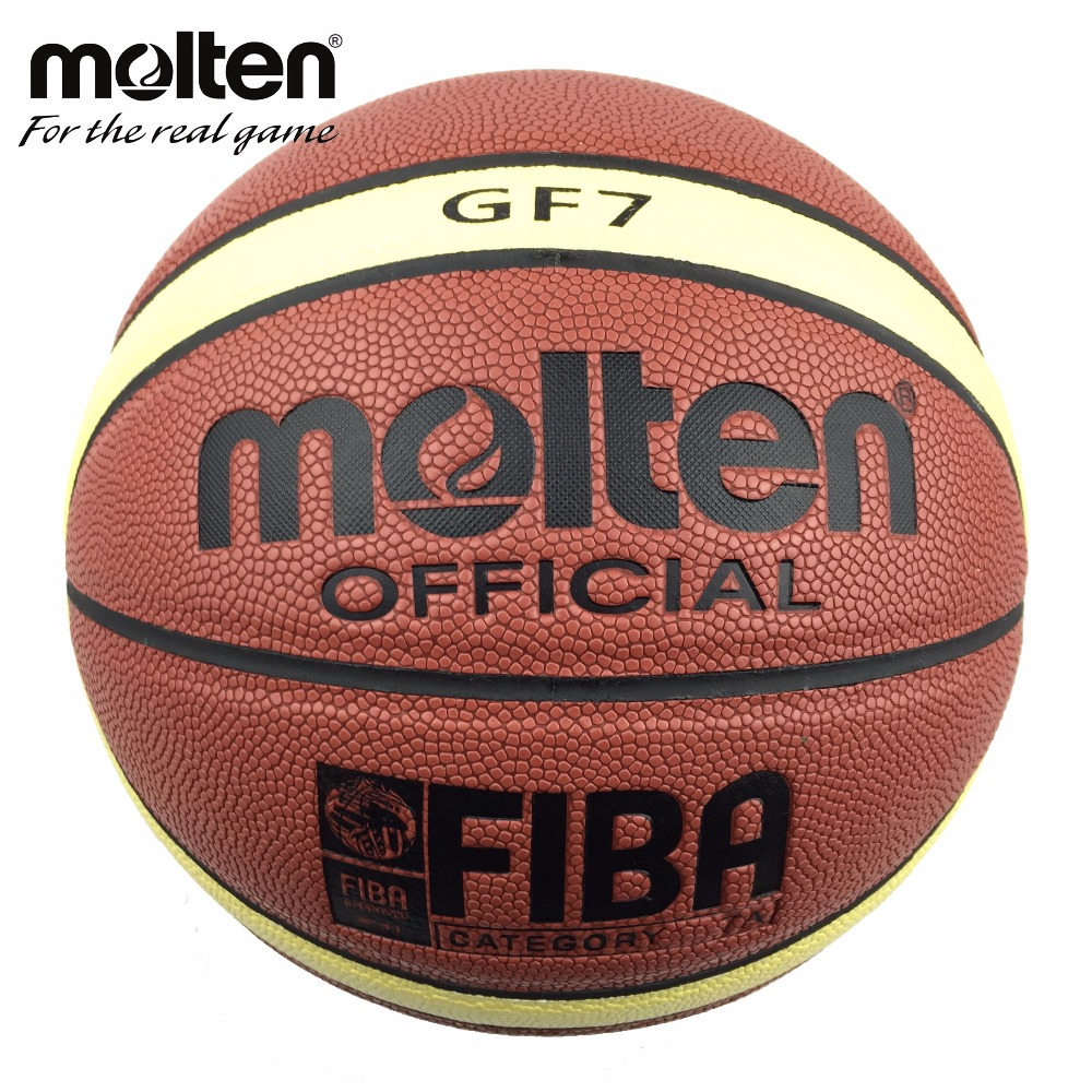 Molten Basketball Ball GF7 SIZE 7 PU Material Free Shipping For Indoor Basketball Game Free with Ball Net bag +Needlle(China (Mainland))