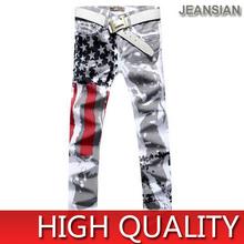 Jeansian Mens Printed Fashion Design Jeans Hot Style Pattern Skinny Slim Clubwear Pant Top Sales W30 32 34 36 38 L32 J229()