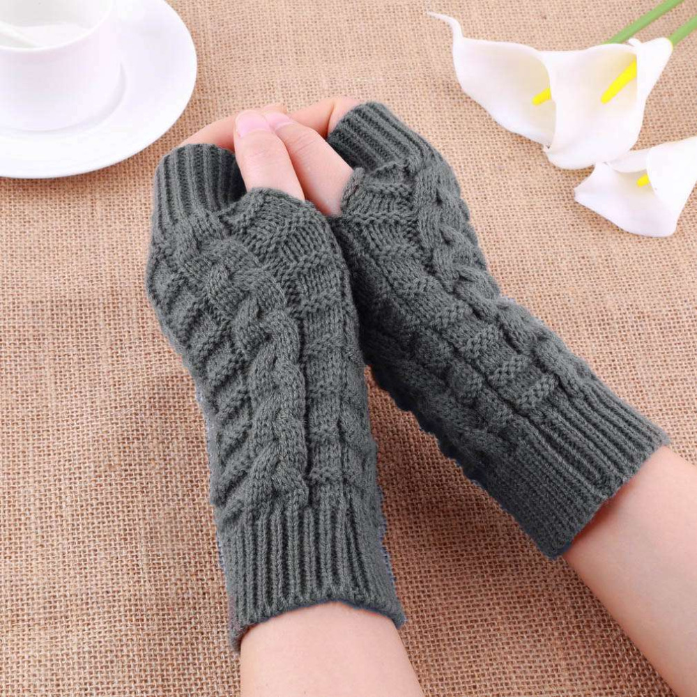 Fingerless gloves knit mittens wool gloves personalized ready to ship brown gloves womens knit mittens women gift girlfriend Christmas gift oilpaintingsIren out of 5 stars.