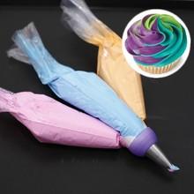 Icing Piping Bag convertidor boquilla de tres colores crema acoplador decoración de pasteles herramientas para la magdalena Fondant galletas 3 hoyo 3 Color(China (Mainland))