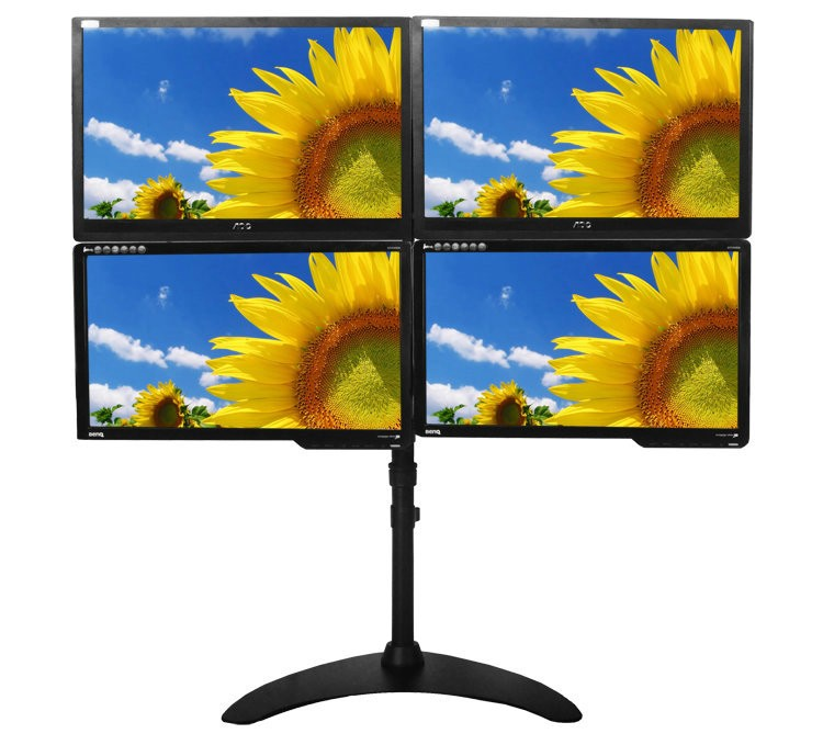 "13-24"" Full Rotation 4 Screen Desktop Monitor Holder LCD TV Mount Table Stand Base Rack(China (Mainland))"