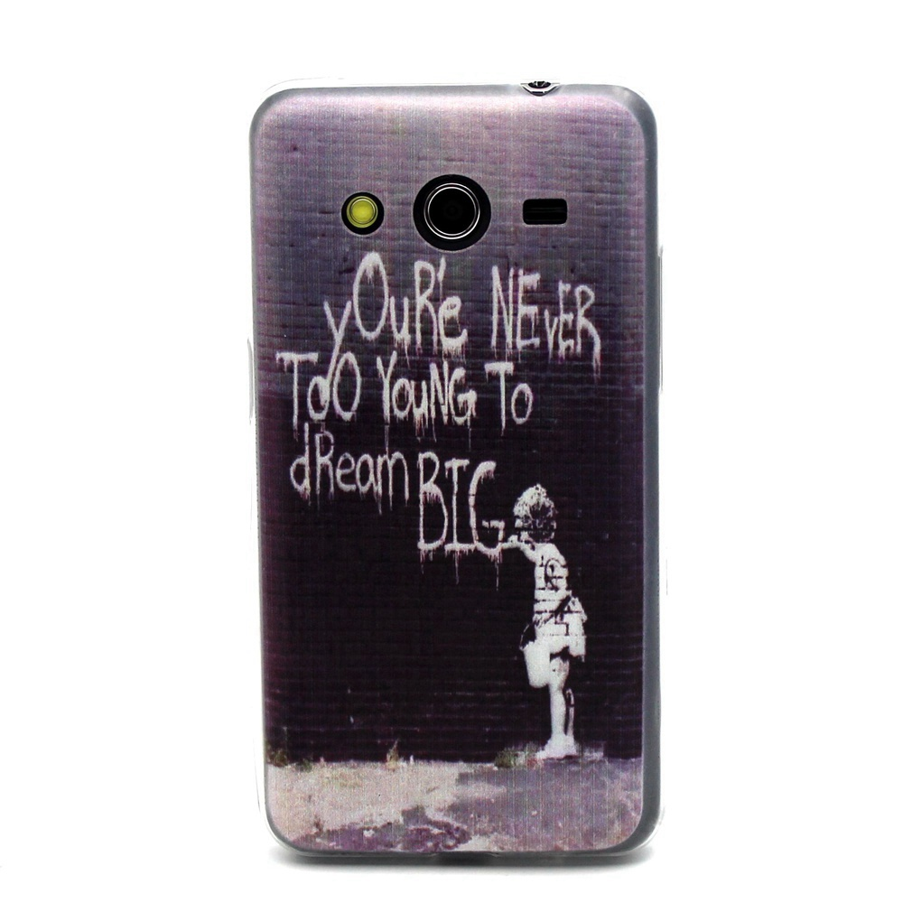 Slim Case For Samsung Galaxy Core 2 G355H G3556D G3559 Stylish Painting Soft Silicone Phone Cover Clear Ultra Thin TPU Coque
