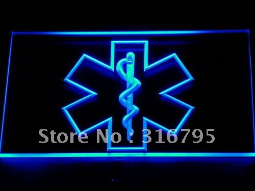 714-b EMS Paramedic Medical Services LED Neon Light Sign Wholesale Dropshipping On/ Off Switch 7 colors DHL(China (Mainland))