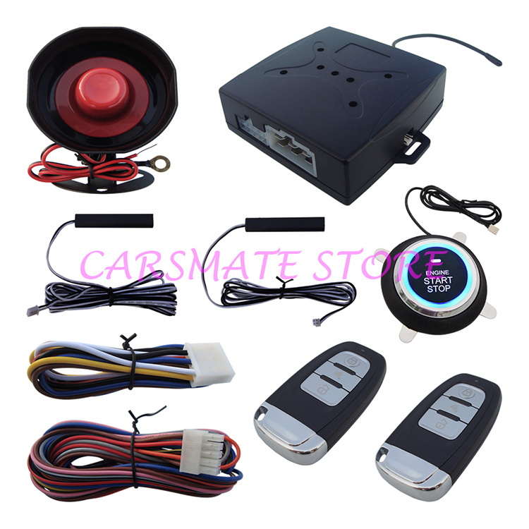 Stock In USA NEW PKE Car Alarm System W Push Button Start Car Engine & Remote Control Start Car Engine(China (Mainland))