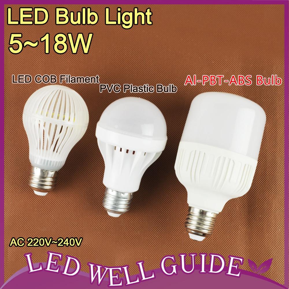 Cob E27 E14 Led Bulb 5W 7W 9W 12W 18W 22W LED Lamp E27 220v 110v Cold White Warm White Spot Light Lampada LED Bombillas Ampoule(China (Mainland))