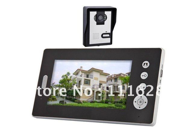Wholesale - 2.4GHz Wireless 7 Inch Digital TFT LCD Video Door Phone Home Alarm IR Camera Intercom System