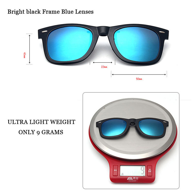 Polarized Clip On Sunglasses With Box Fit Over Sun Glasses Flip Up Prescription Glasses Wear Over Eyewear Anti Glare UV400 5840(China (Mainland))