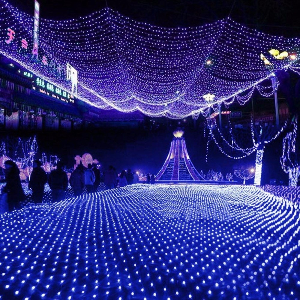 String Net Fairy Lights : Colorful Net String Fairy Lights 6Mx4M 750LEDS 8 Flash Modes Super Bright Xmas Christmas Wedding ...